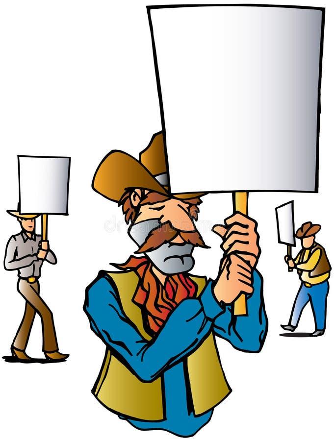 Cowboy-Protest stock abbildung