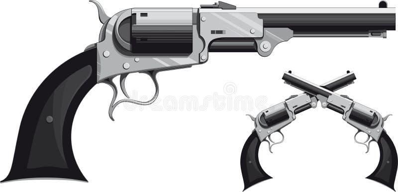 Cowboy revolver royalty free stock image