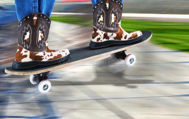 Cowboy Riding Surfer fotografia stock libera da diritti