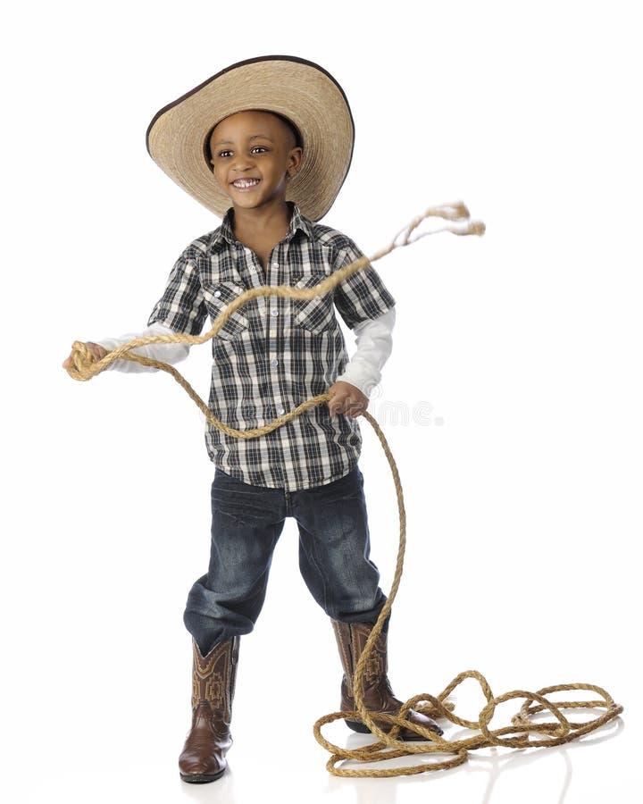 Cowboy Roping de Rootin Tootin photographie stock libre de droits