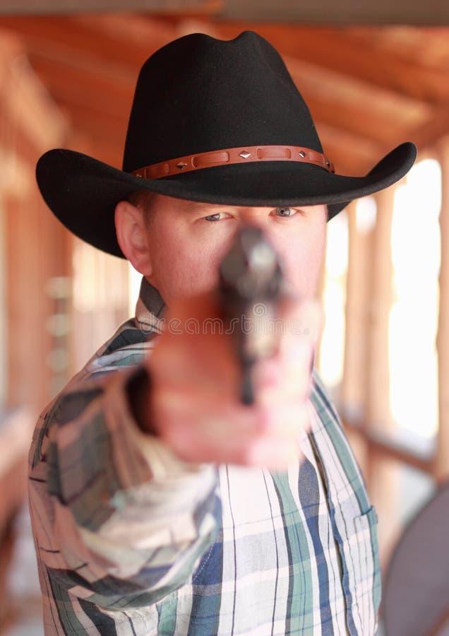 Cowboy sério inoperante fotos de stock