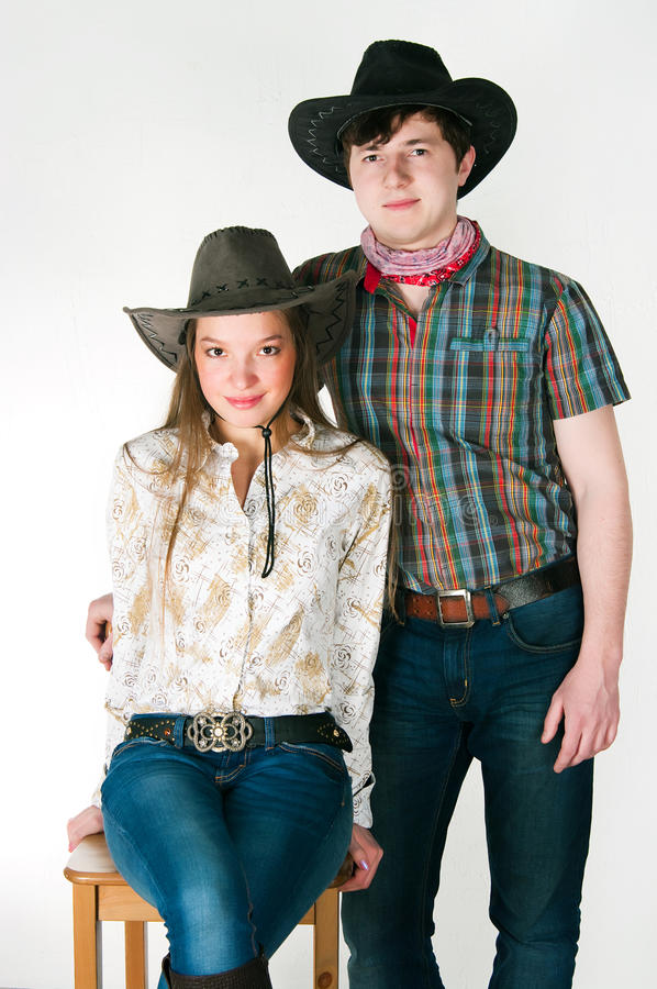 Download Cowboy's love story stock photo. Image of female, brown - 25000162
