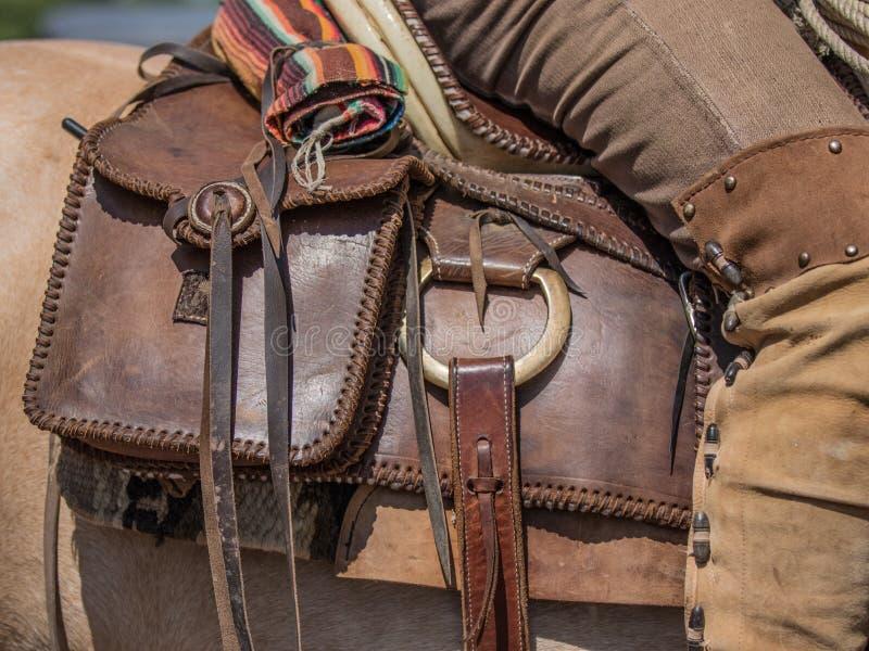 Cowboy Saddle Bags royalty-vrije stock afbeelding