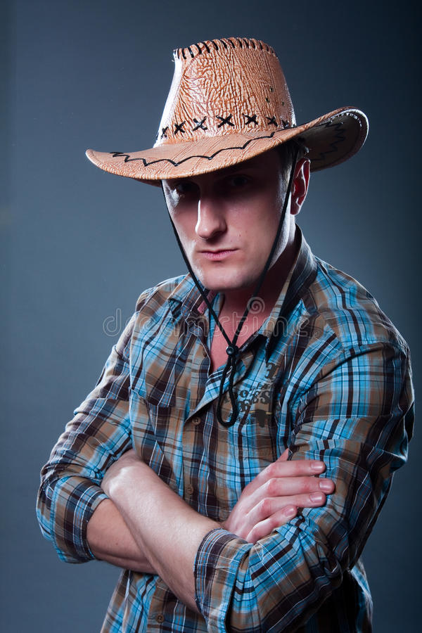 Cowboy severo immagine stock libera da diritti