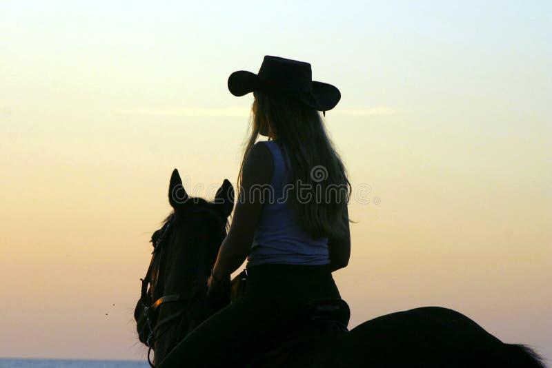 cowboy 'sexy' das meninas foto de stock