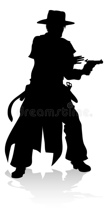 Cowboy Silhouette stock illustratie