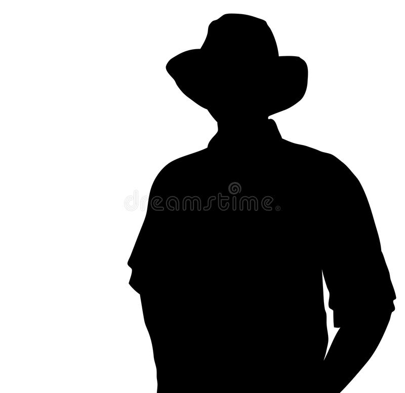 Download Cowboy silhouette stock vector. Image of white, farm - 17844918
