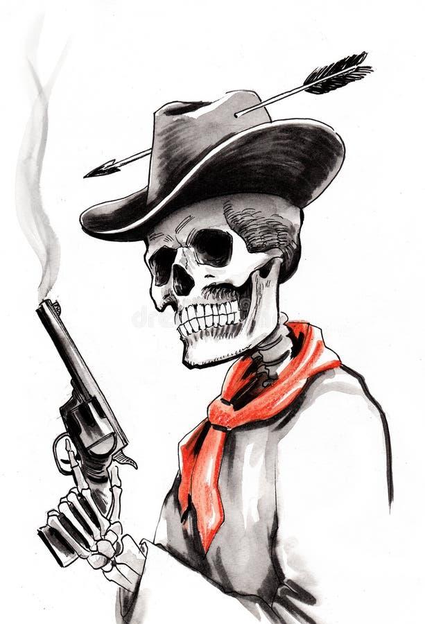 Dead cowboy stock illustration