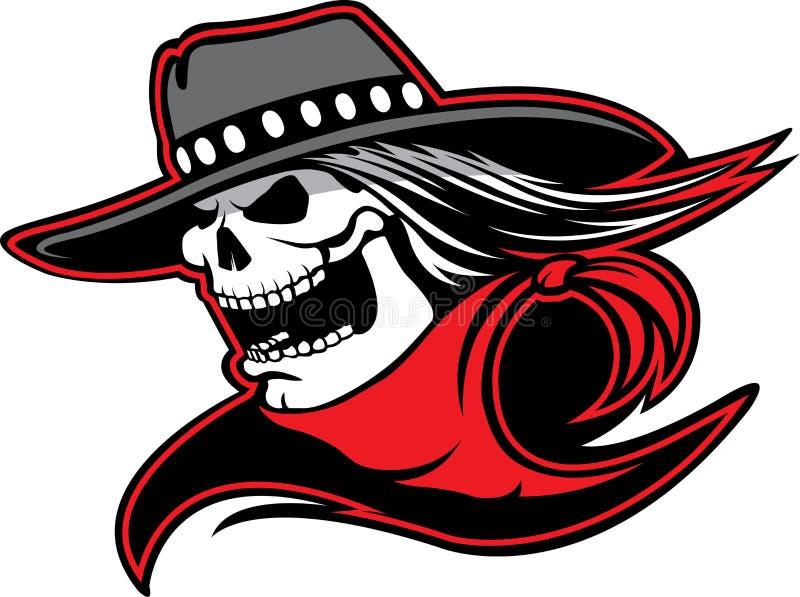 Cowboy Skull ook stock illustratie