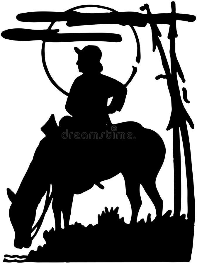 Cowboy solitario royalty illustrazione gratis