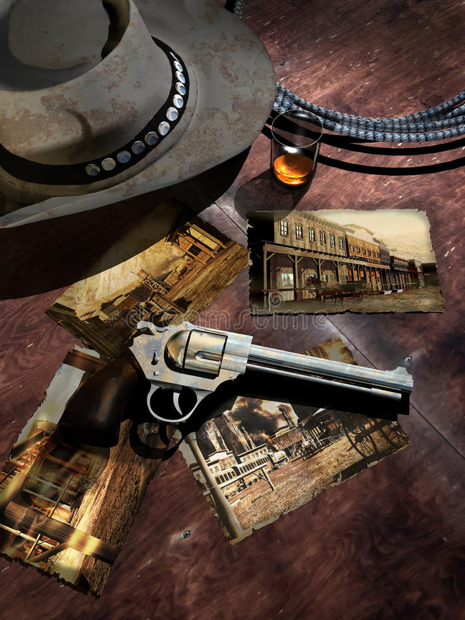 Download Cowboy souvenirs stock illustration. Image of outlaw - 23571132