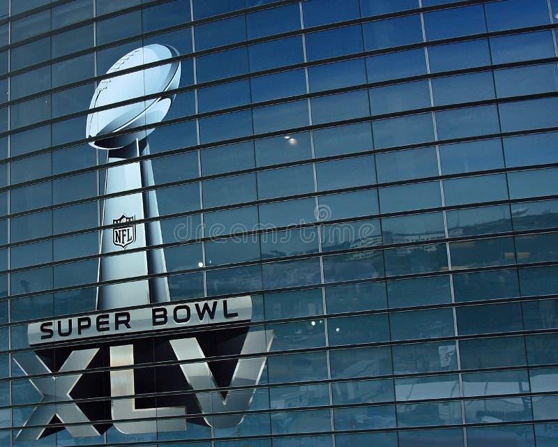 Cowboy-Stadion-Super Bowl-Trophäe lizenzfreie stockfotos