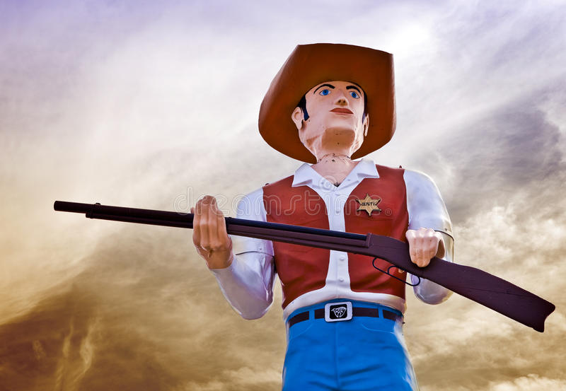 Download Cowboy Statue stock image. Image of boots, pistol, draw - 16010535