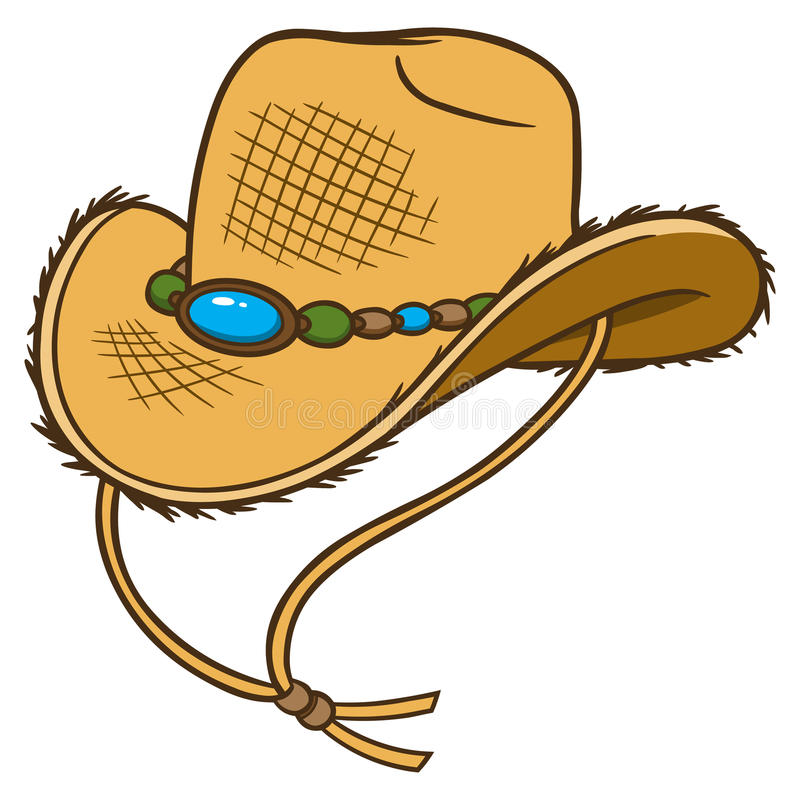 Cowboy Straw Hat. Vector illustration of a Cowboy Straw Hat royalty free illustration