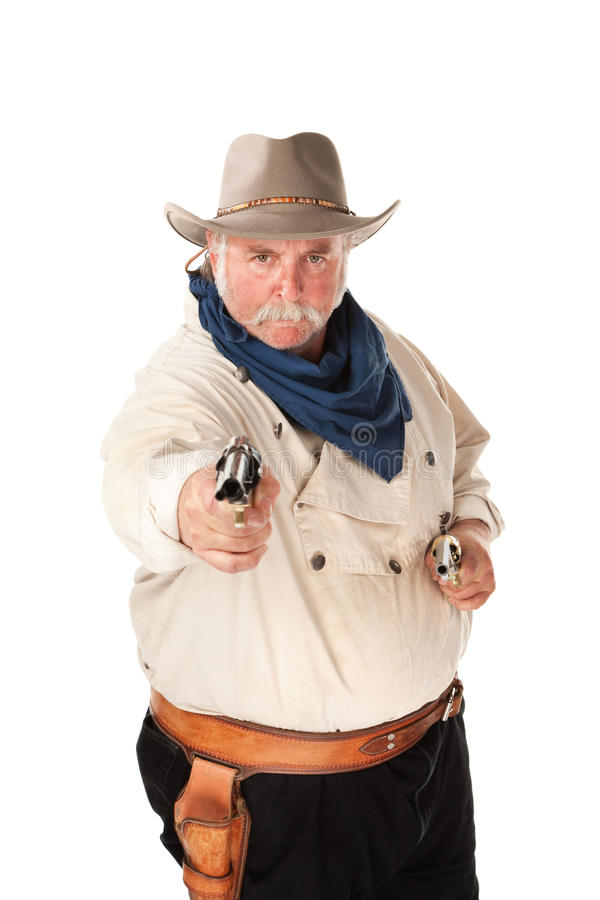 Cowboy sur le fond blanc photographie stock libre de droits