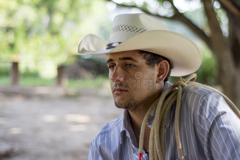Cowboy triste fotografia stock libera da diritti