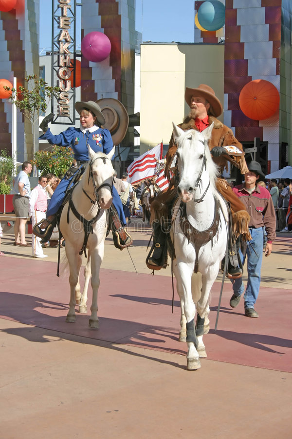Cowboy und Cowgirl lizenzfreies stockbild