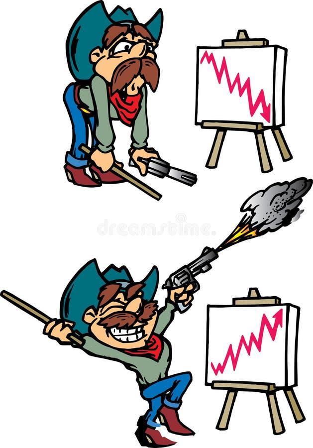 Cowboy-Verkäufer stock abbildung