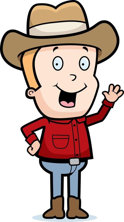 Cowboy Waving stock illustration