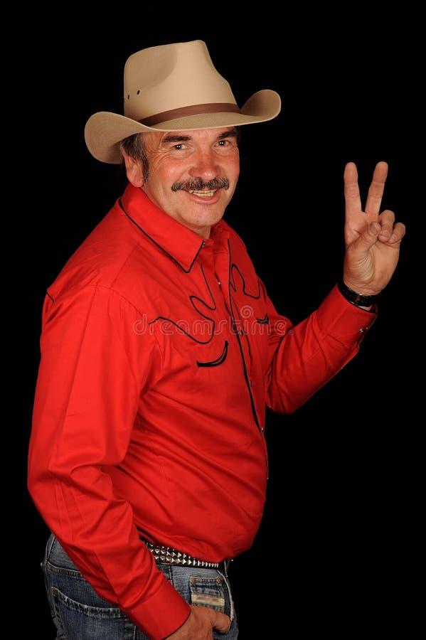 Cowboy Waving Stock Images