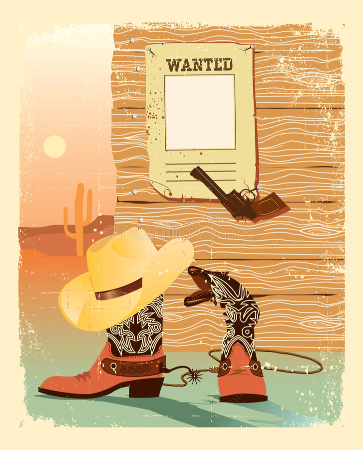 Cowboy West life. Western poster royalty free stock photography