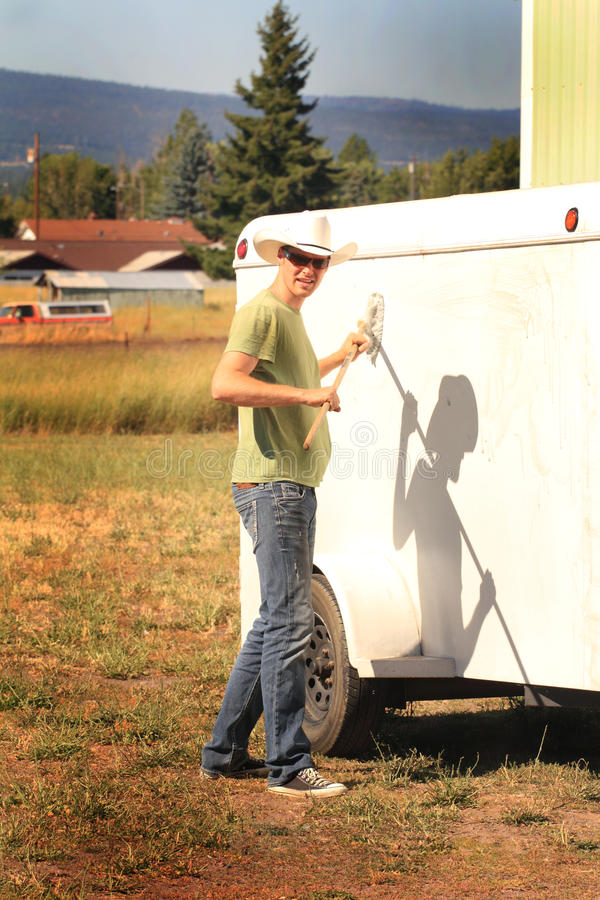 Cowboy Work fotografia stock