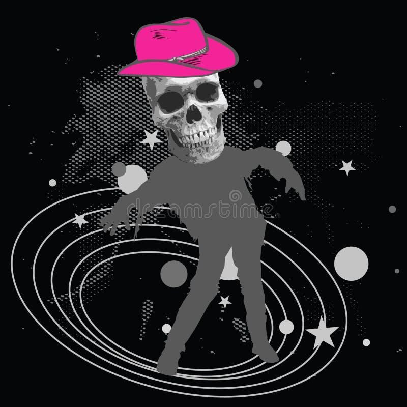 cowboyavstånd stock illustrationer