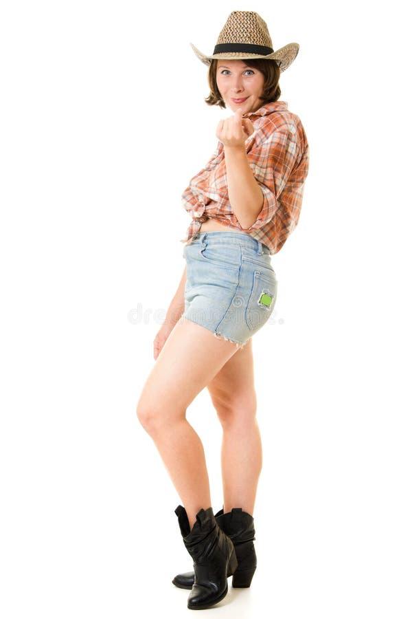 Cowboyfrau. lizenzfreies stockbild