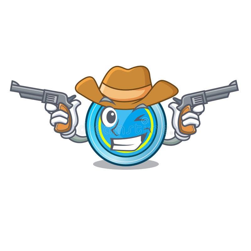 Cowboyfrisbee in de vorm een mascotte stock illustratie