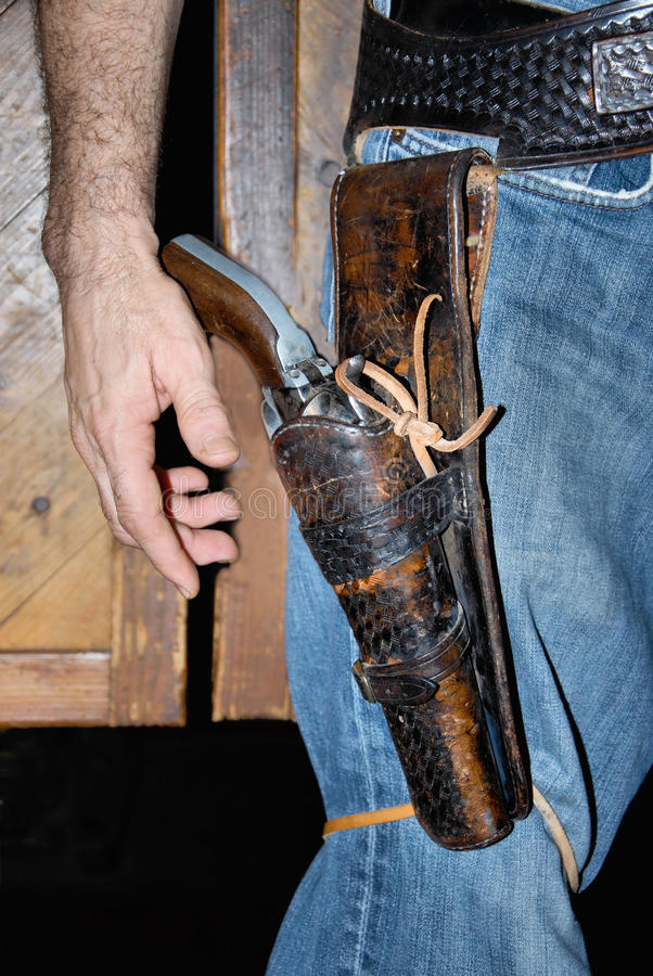 Cowboygewehr lizenzfreies stockbild
