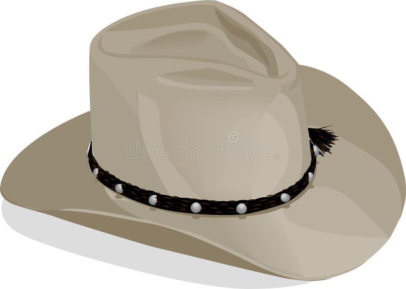 Cowboyhat met het knippen van weg stock illustratie