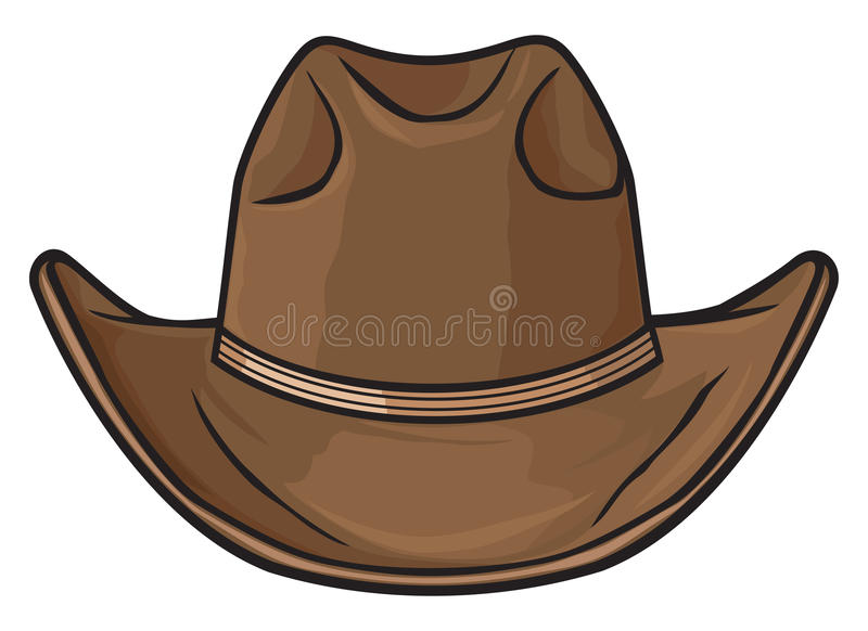 Cowboyhatt stock illustrationer
