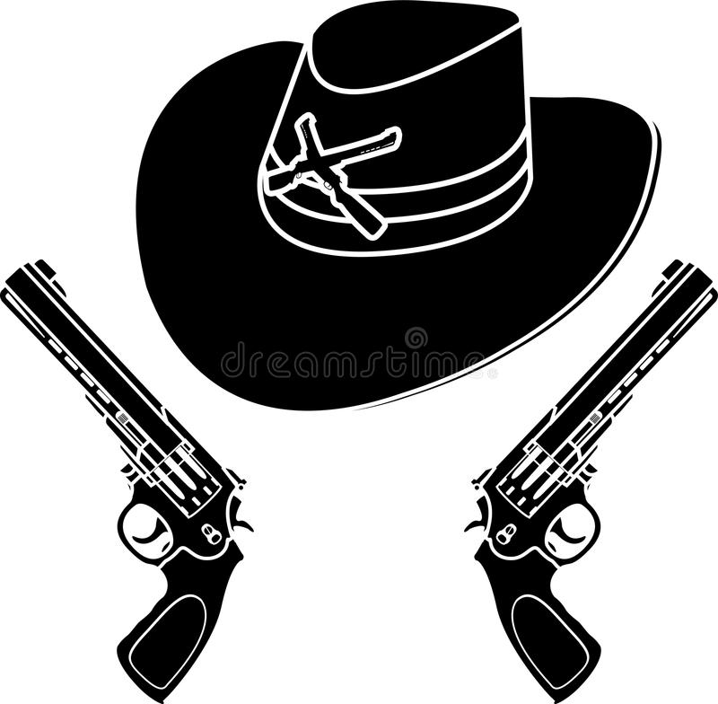 Cowboyhatt vektor illustrationer