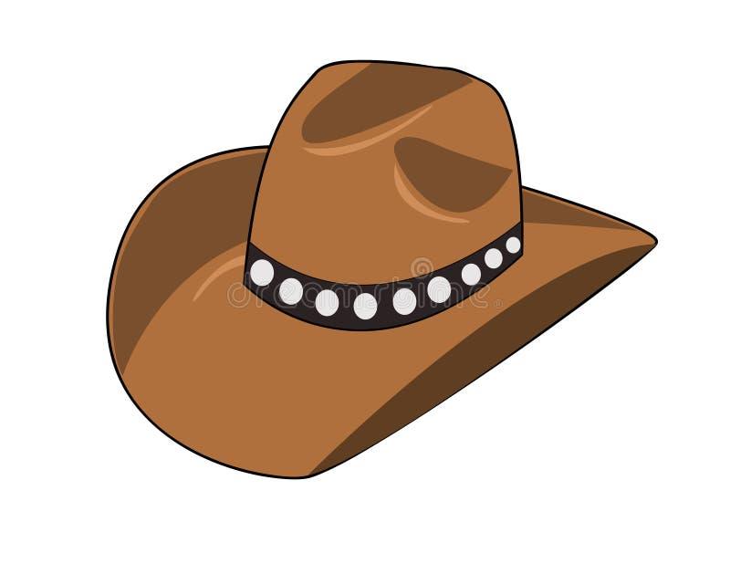 cowboyhatt royaltyfri illustrationer