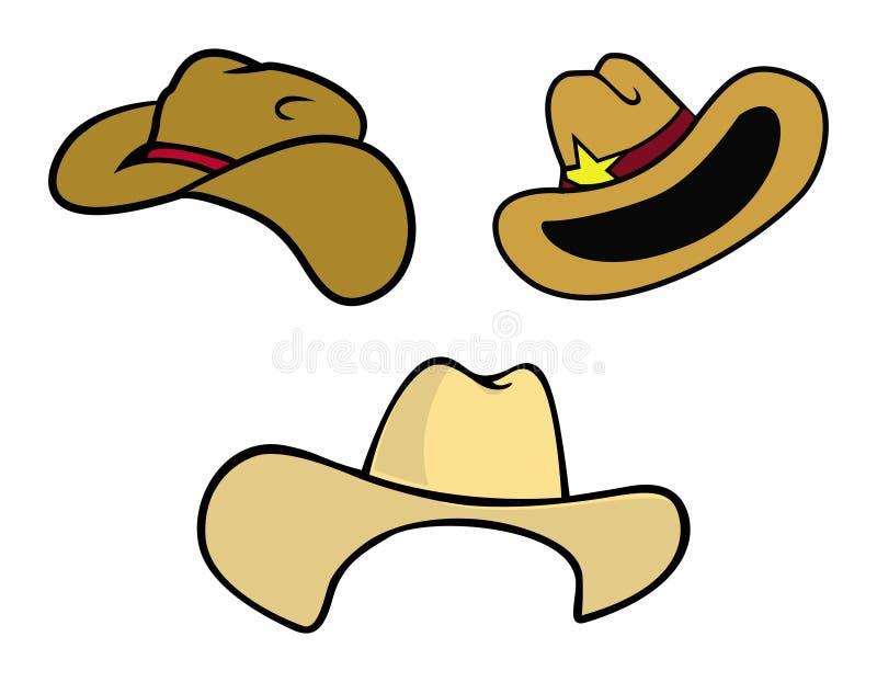 cowboyhattar stock illustrationer