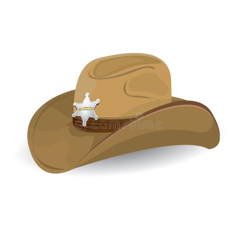 Cowboyhoed. vectorillustratie. royalty-vrije illustratie
