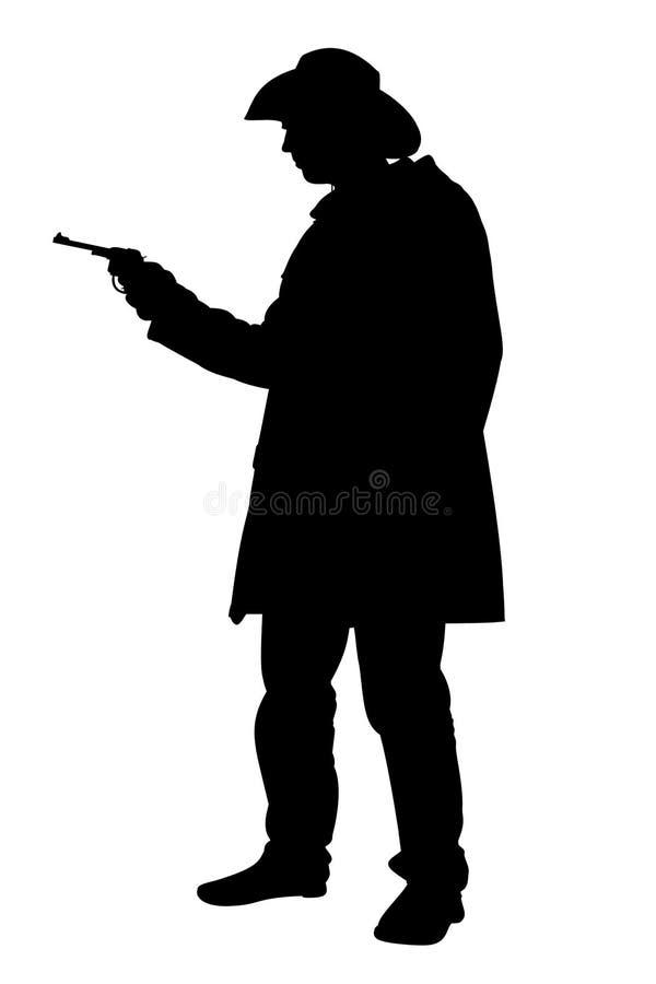 Cowboyholdinggewehr stock abbildung