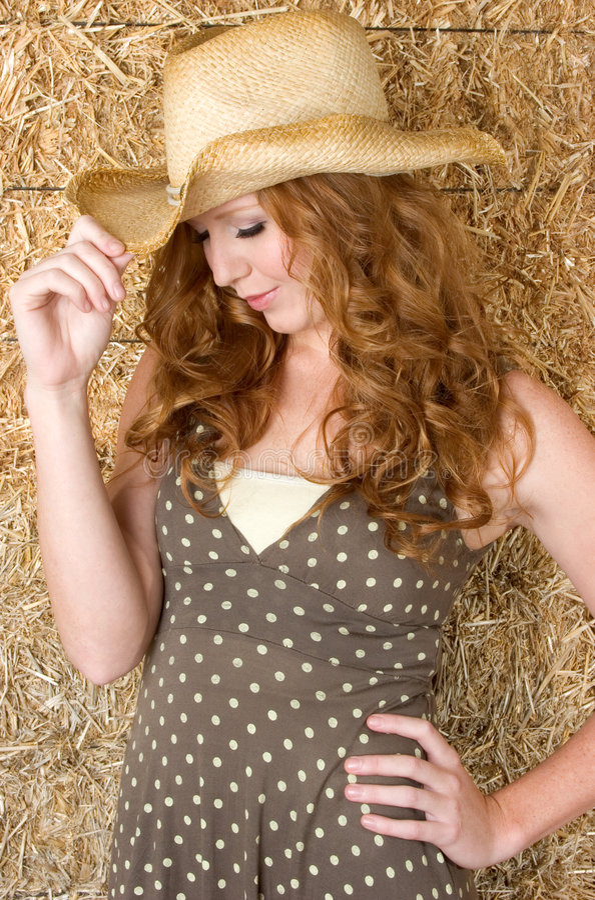 Cowboyhut-Frau stockfotos