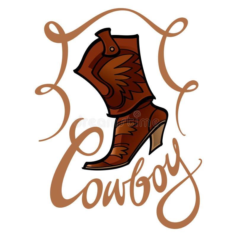 Cowboykänga vektor illustrationer