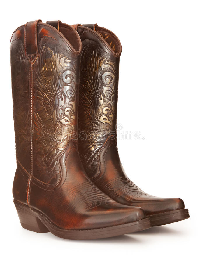 Cowboykängor arkivfoton