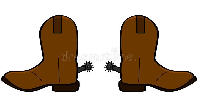 Cowboylaarzen vector illustratie