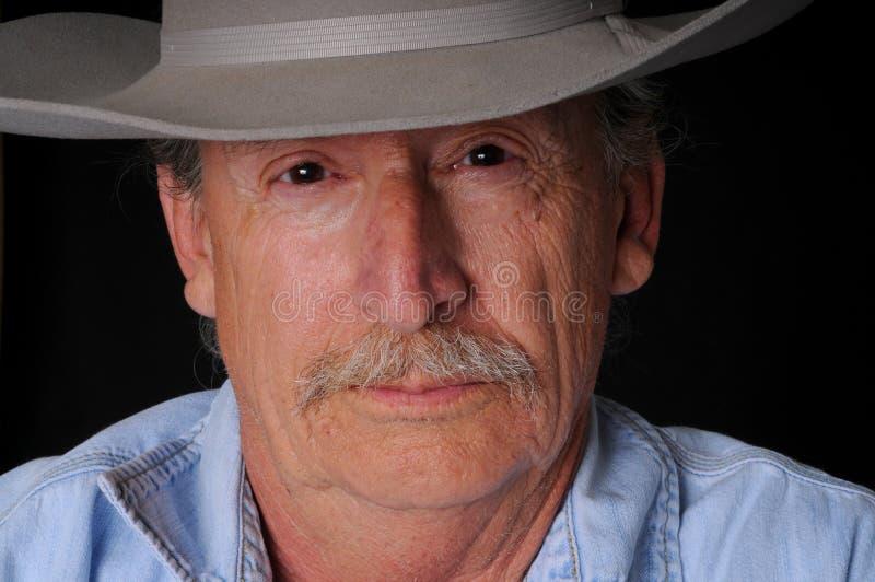 cowboypensionär royaltyfri foto