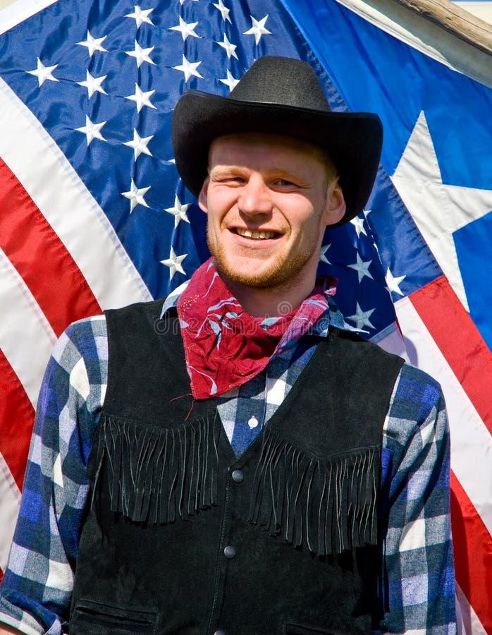 Cowboyportrait stockfotos
