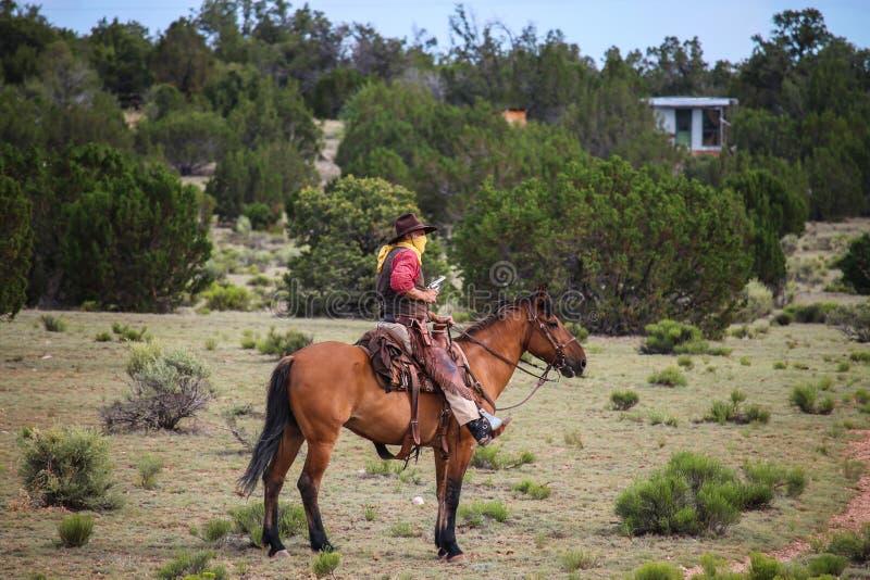 Cowboyräuber stockbild