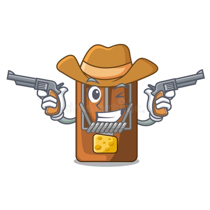 Cowboyråttfälla i a-teckenformen vektor illustrationer