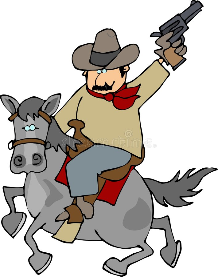 cowboyridem stock illustrationer