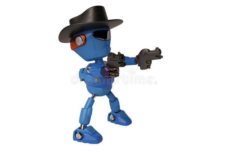 Cowboyrobot royaltyfri illustrationer