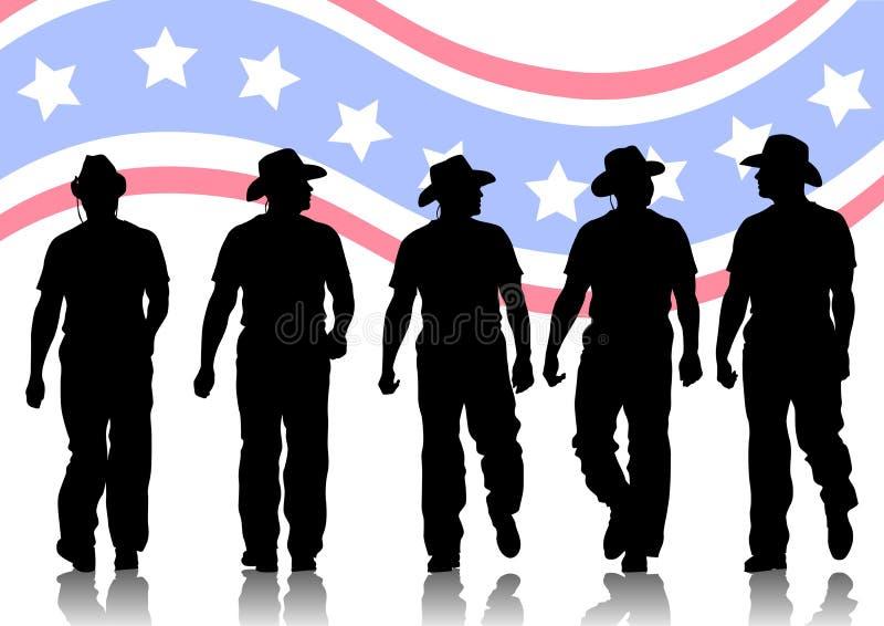 Cowboys vector illustratie