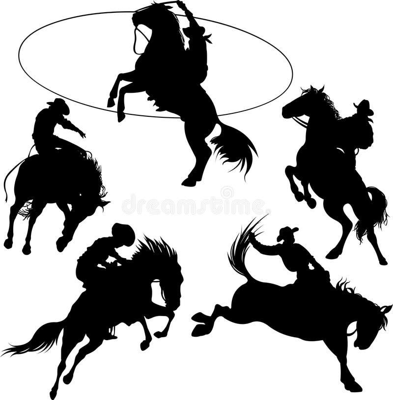 cowboys royaltyfri illustrationer