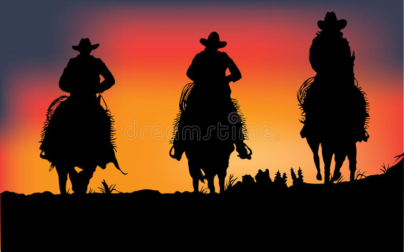 Download Cowboys stock vector. Illustration of rancher, riding - 27361008